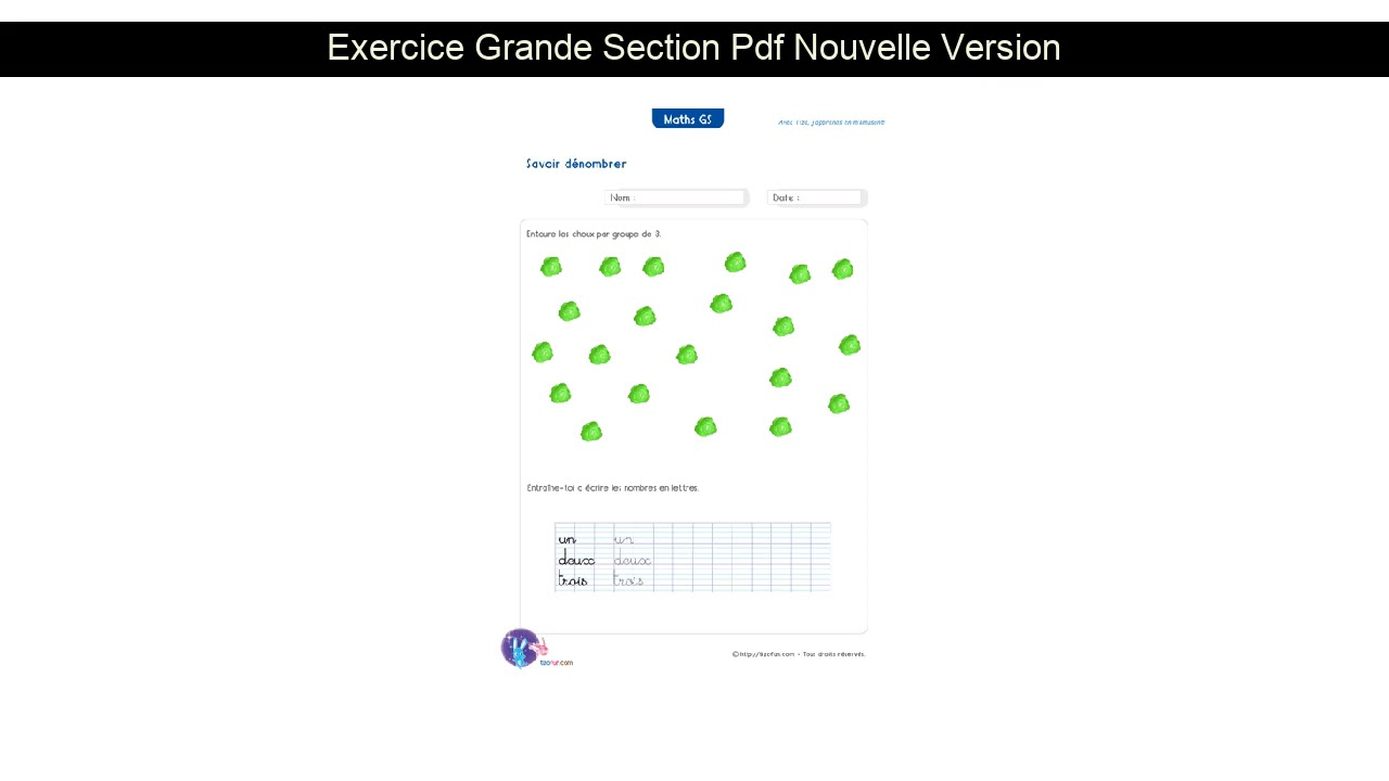 Exercice Grande Section Pdf Nouvelle Version tout Grand Section Exercice