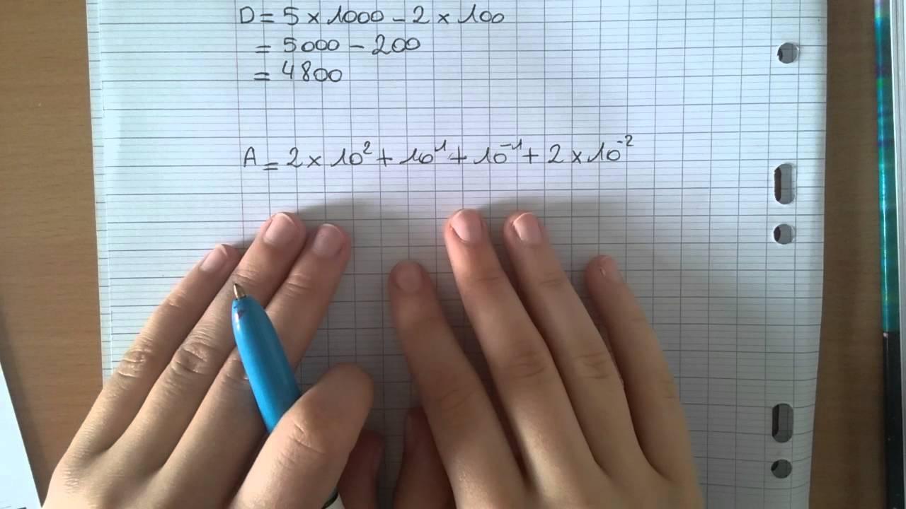 Exercice Maths Type Brevet N°3 - Les Puissances serapportantà Exercice De Math Sur Les Puissances