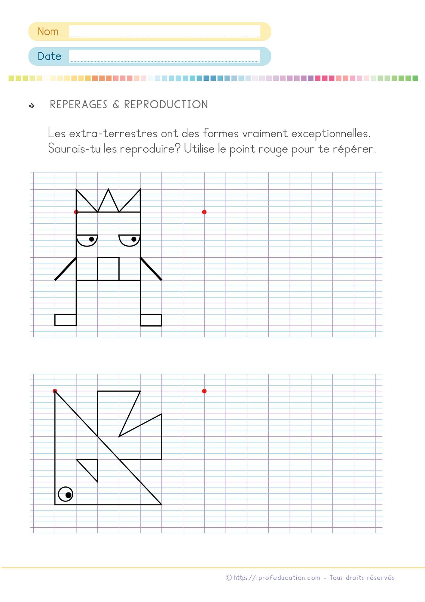 Exercices De Math Cp Ce1 | Pdf Fiches De Mathématiques Cp Ce1 serapportantà Exercice Reproduction Sur Quadrillage Ce1