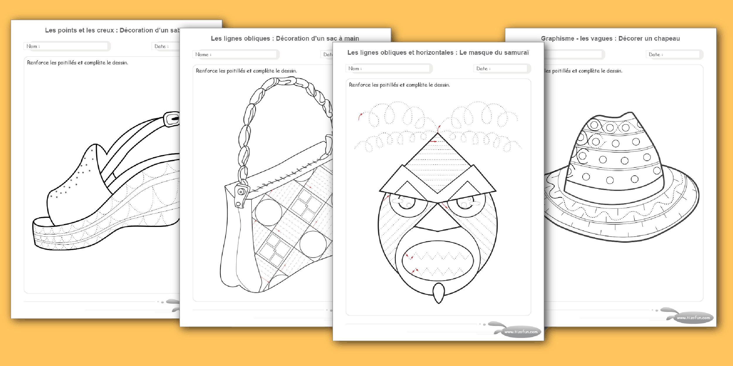 Exercices Maternelle Motricité Fine Par Le Dessin A Imprimer à Exercice De Graphisme Petite Section A Imprimer