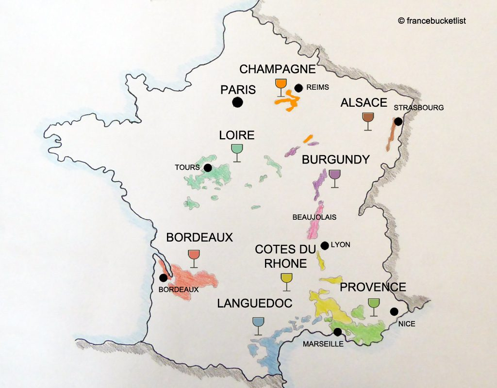 Exploring The French Vineyards: Best Wine Regions In France destiné Map De France Regions