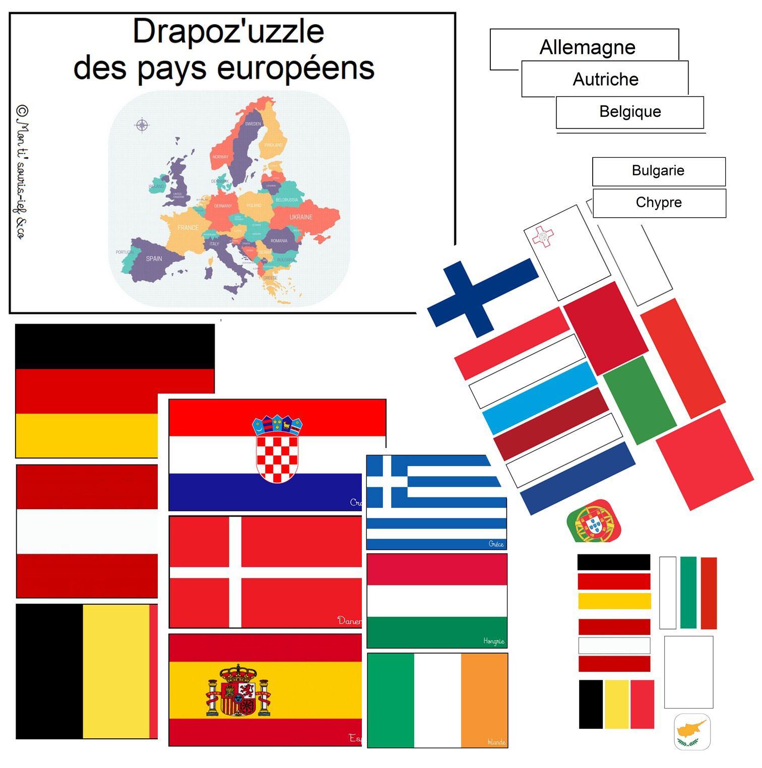 🇪🇺jeu De 28 Drapeaux🇪🇺 + Pièces Nécessaires À La serapportantà Jeux Union Européenne