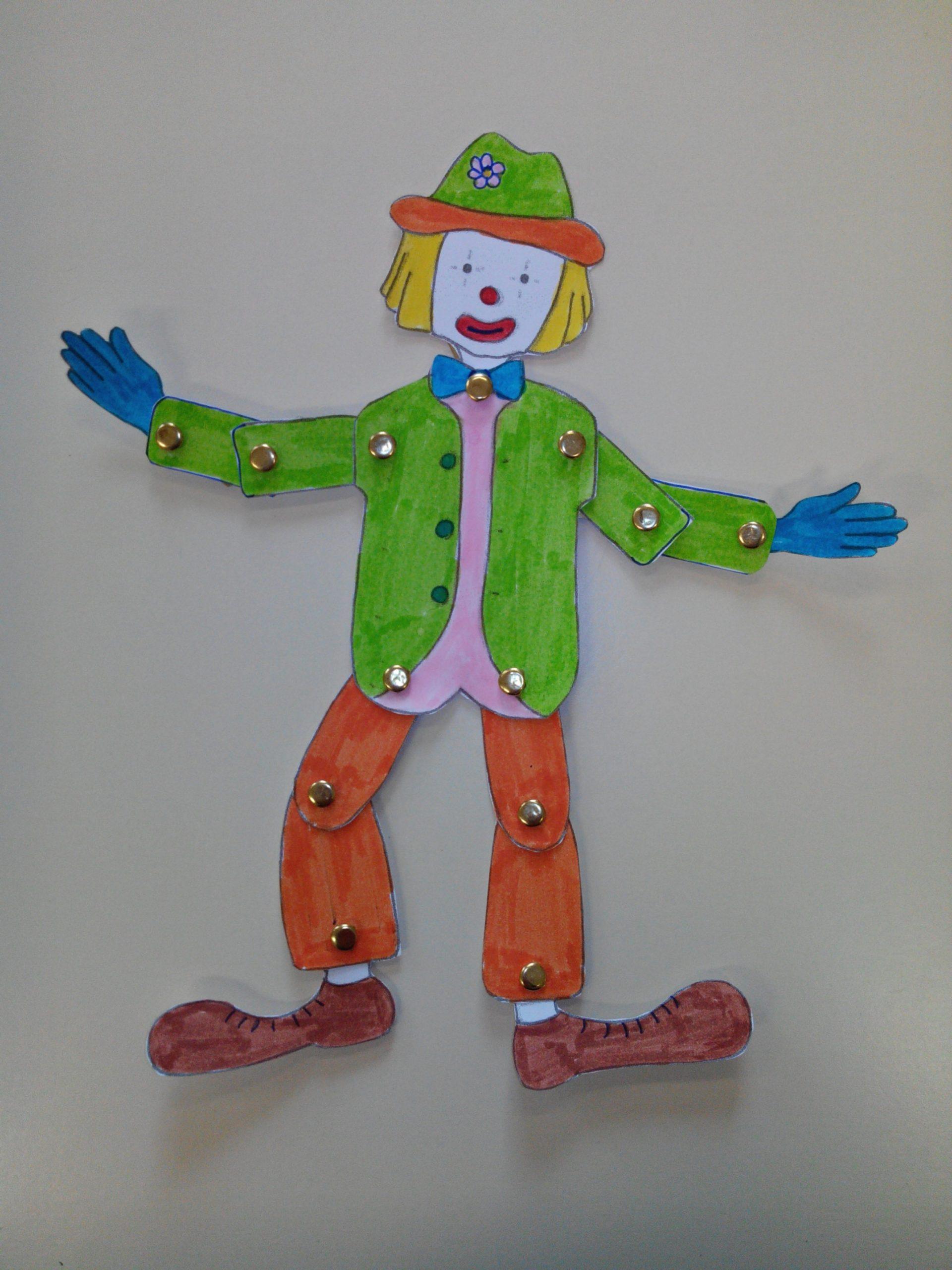 Fabriquer Un Clown Articulé | Ecole Jules Ferry Wahagnies concernant Fabrication D Un Pantin Articulé