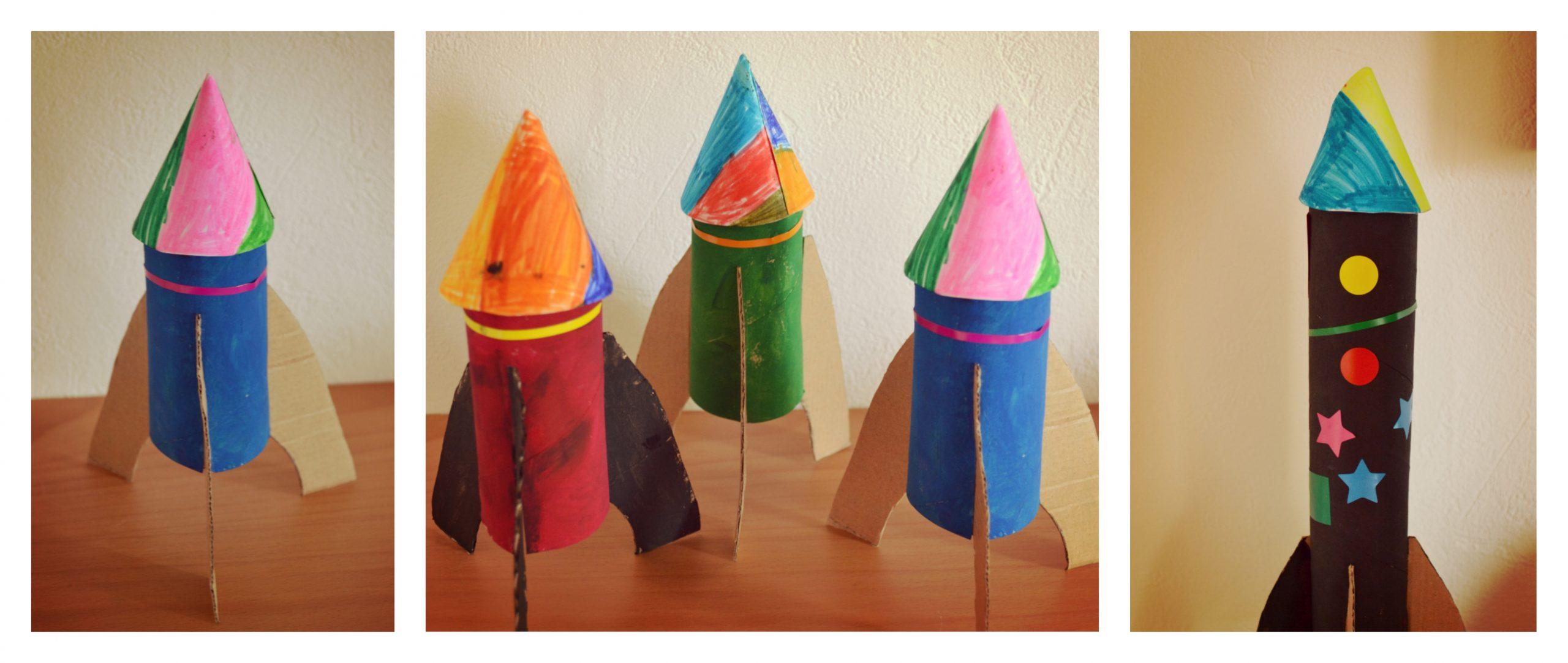 Fabriquer Une Fusée, Avec Des Rouleaux De Papier Toilette Ou pour Activité Manuelle Avec Des Allumettes