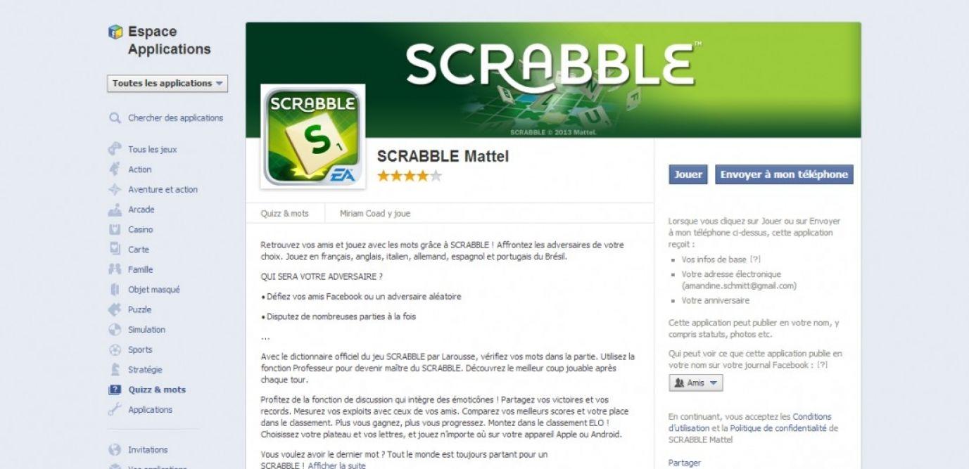 Facebook : La Refonte De L'appli Scrabble Excède Les tout Application Jeux De Mots