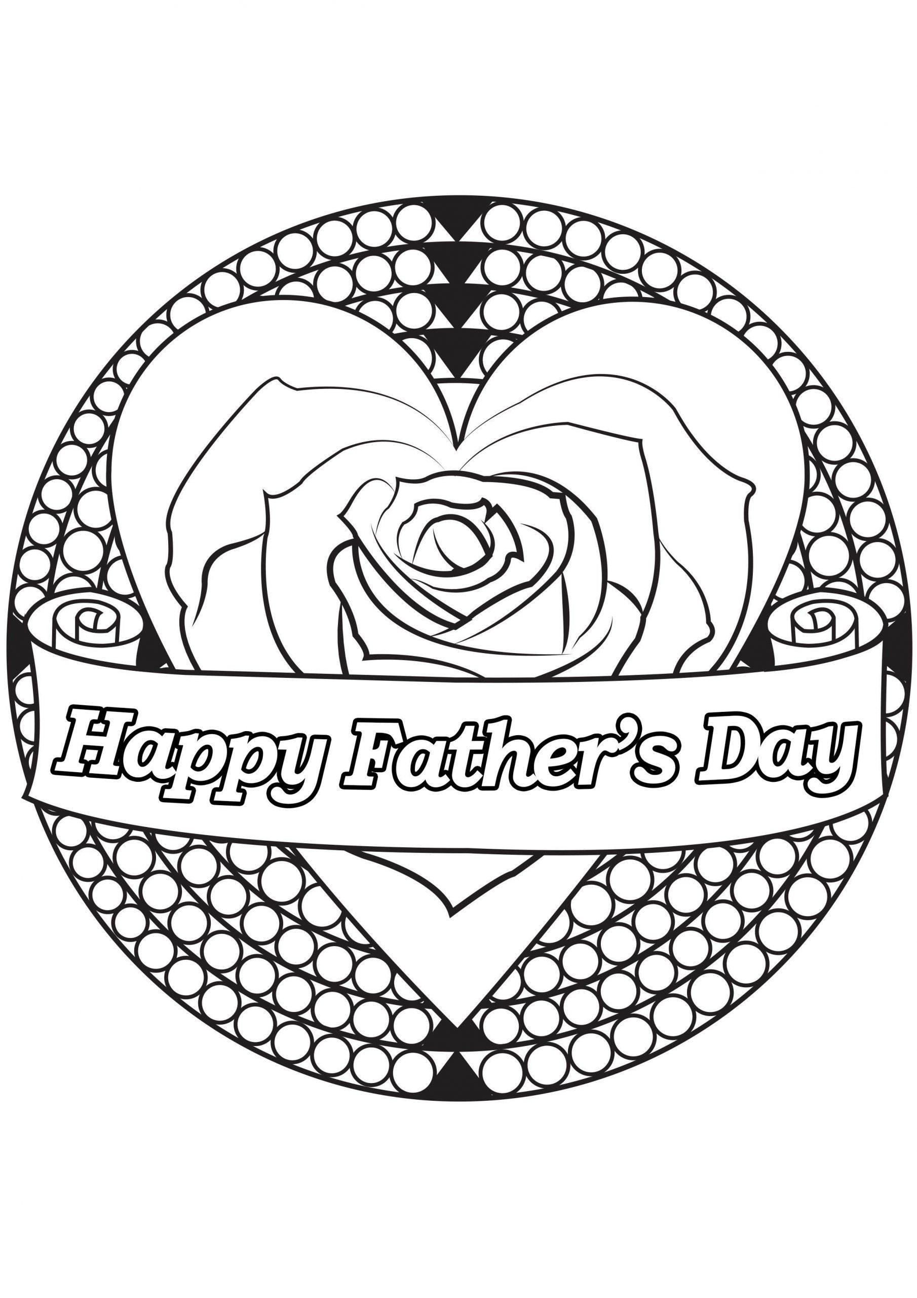 Father's Day Coloring Page : Heart | Father's Day Coloring destiné Coloriage Fete Des Peres A Imprimer Gratuit