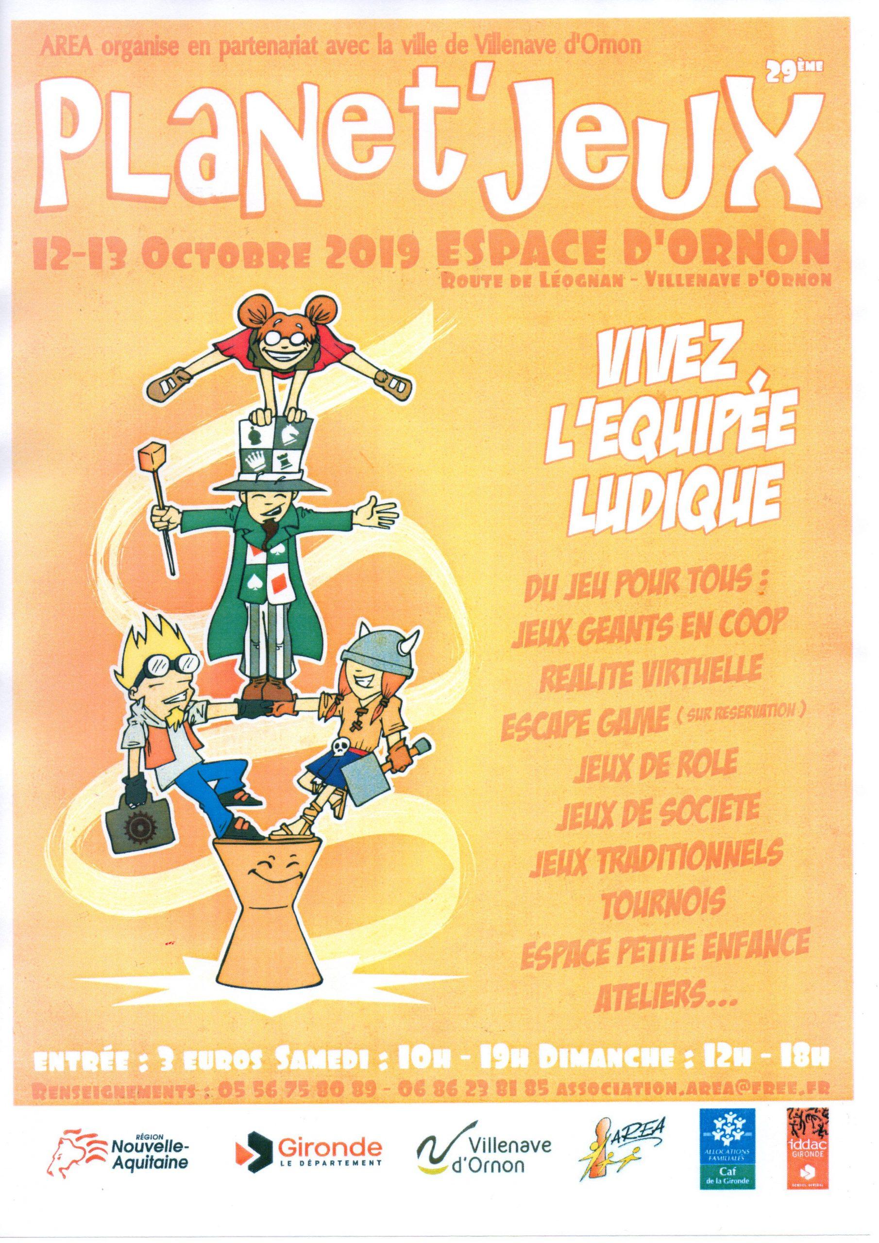Festival Planet'jeux - Villenave D'ornon - Visites - Aquitaine à Jeux De Bébé Virtuel