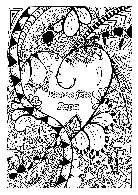 Fete Des Peres 1 - Fête Des Pères - Coloriages Difficiles intérieur Coloriage Fete Des Peres A Imprimer Gratuit