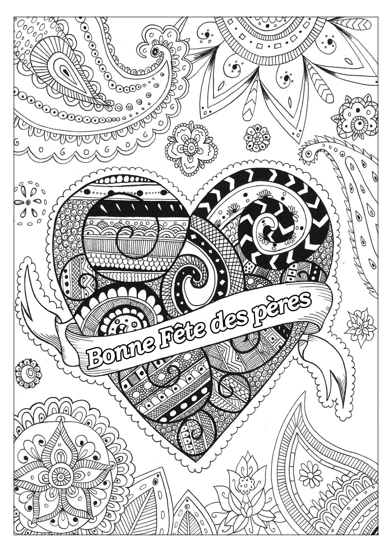Fete Des Peres 4 - Fête Des Pères - Coloriages Difficiles pour Coloriage Fete Des Peres A Imprimer Gratuit