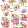 Feuille 3D À Découper A4 - 8215.765 Fleurs Anémones avec Fleurs À Découper