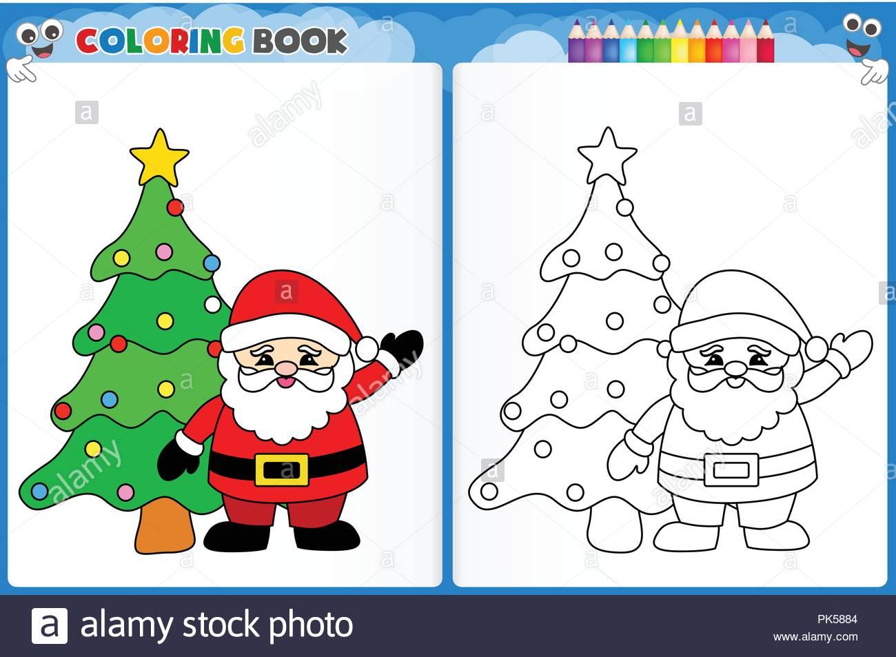 Feuille À Colorier Pour Les Enfants Le Père Noël Vecteurs Et avec Feuille A Colorier