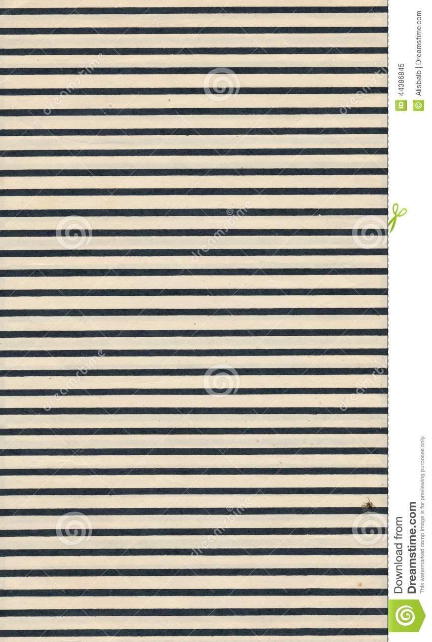 Feuille De Papier De Page De Vintage Avec La Ligne Noire intérieur Feuille Ligne Lettre