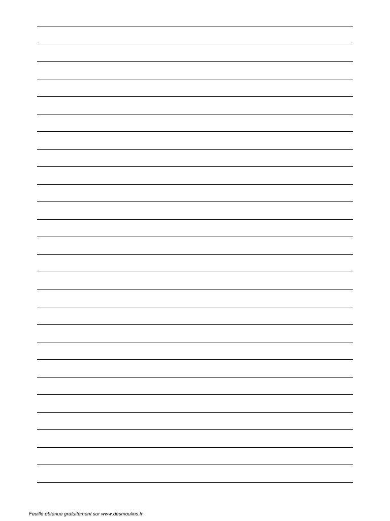 Feuille Lignee (Type Papier A Lettre).pdf   Papier À Lettre pour Lettre A Imprimer Gratuit