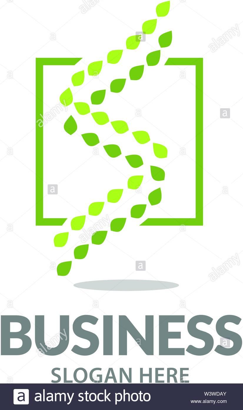 Feuille Plate En Spirale De L'adn De Conception De Logo Logo concernant Feuille Ligne Lettre