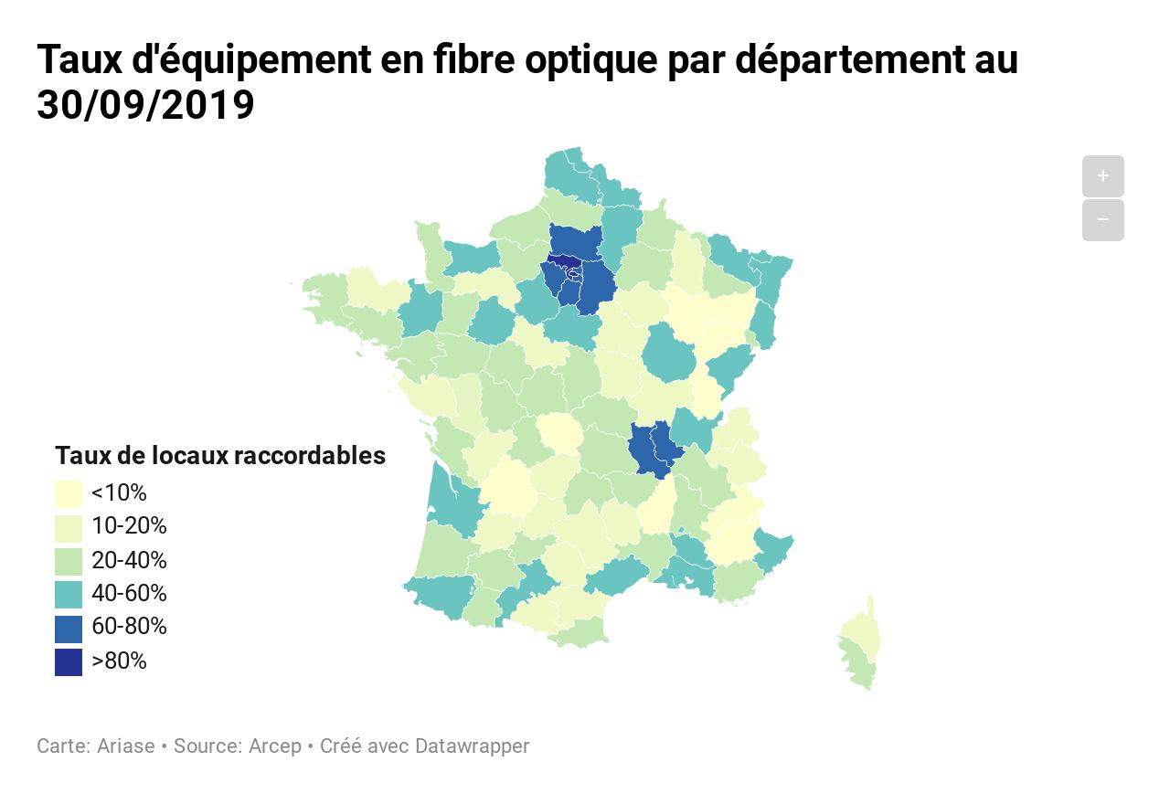Fibre Optique En France : Où Peut-On En Profiter ? Le Top concernant Département 09 Carte