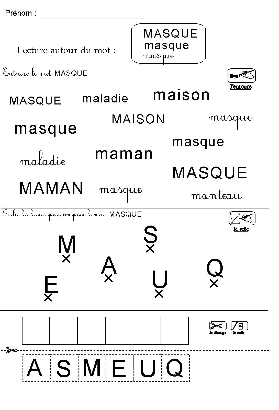 Fiche De Lecture Autour Du Thème De Carnaval En Maternelle Ms Gs encequiconcerne Masque Carnaval Maternelle À Imprimer