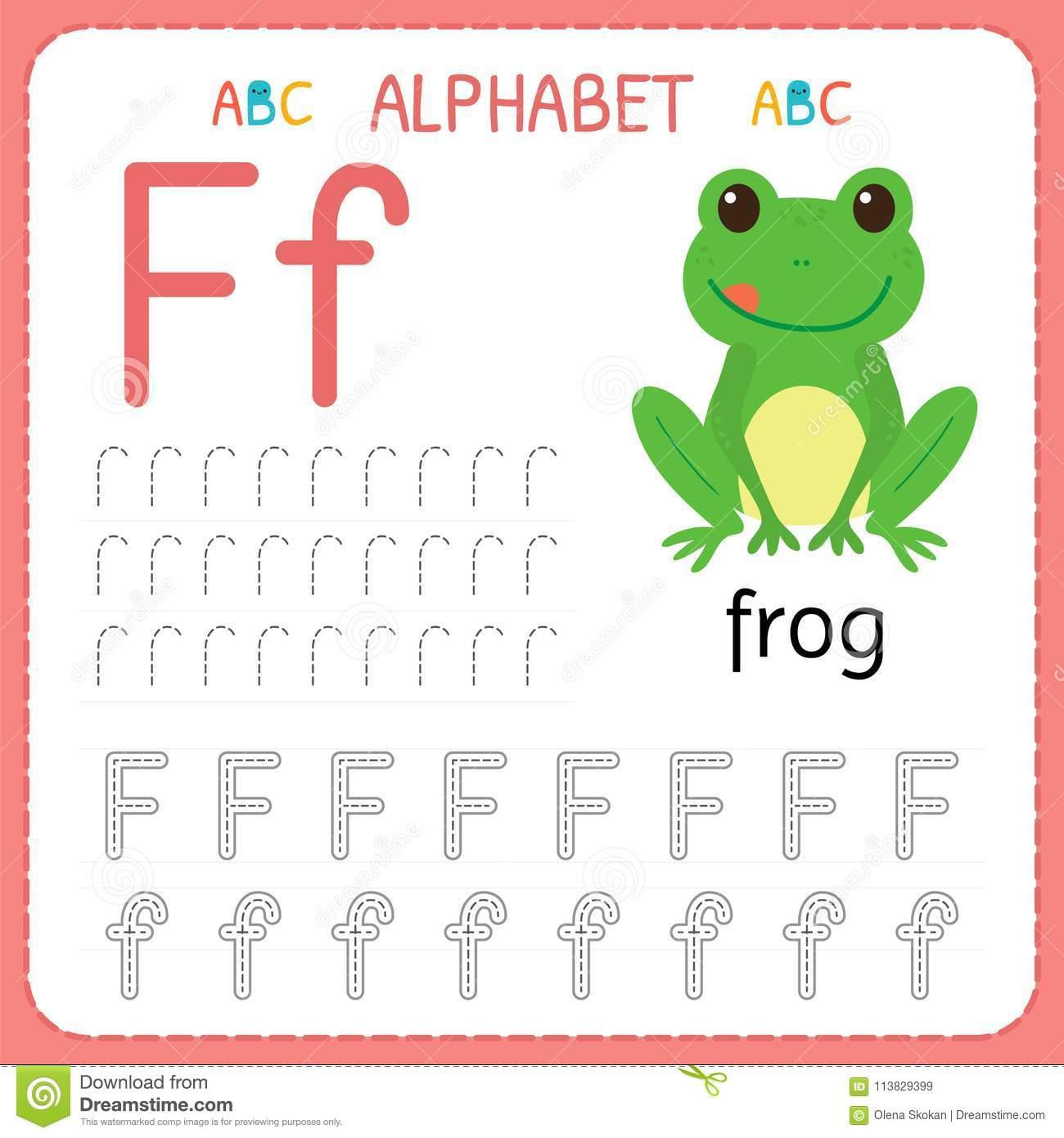 Fiche De Travail De Découverte D'alphabet Pour L'école intérieur Exercice D Alphabet En Maternelle