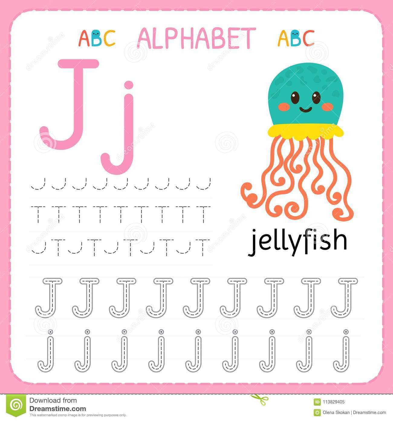 Fiche De Travail De Découverte D'alphabet Pour L'école tout Exercice D Alphabet En Maternelle