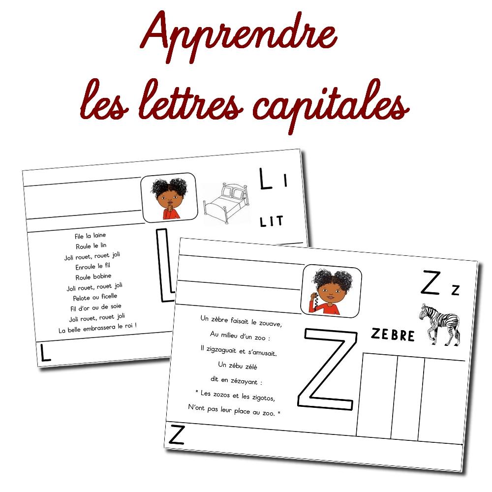 Fiches D'apprentissage Des Lettres Majuscules pour Écrire Les Majuscules
