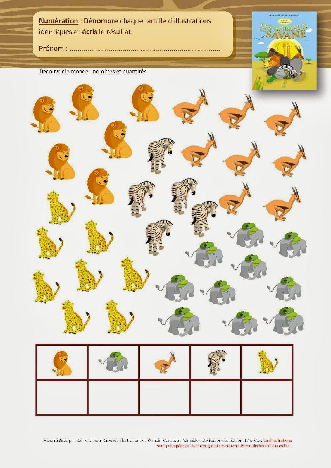Fiches : Dis, Sais-Tu ? | Activités Mathématiques De pour Animaux Maternelle Activités