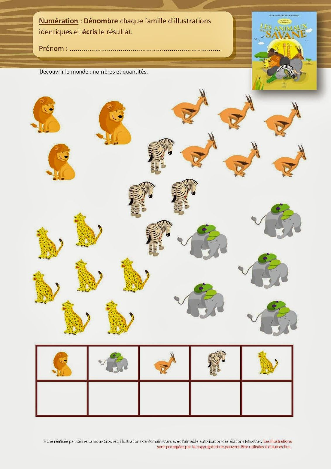 Fiches : Dis, Sais-Tu ? | Activités Mathématiques De tout Animaux Maternelle Activités