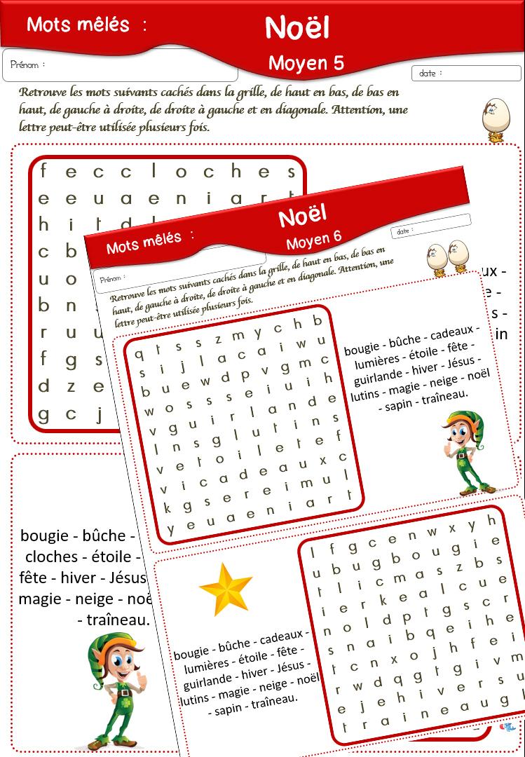 Fiches Sur Noël destiné Sudoku Cm2 À Imprimer