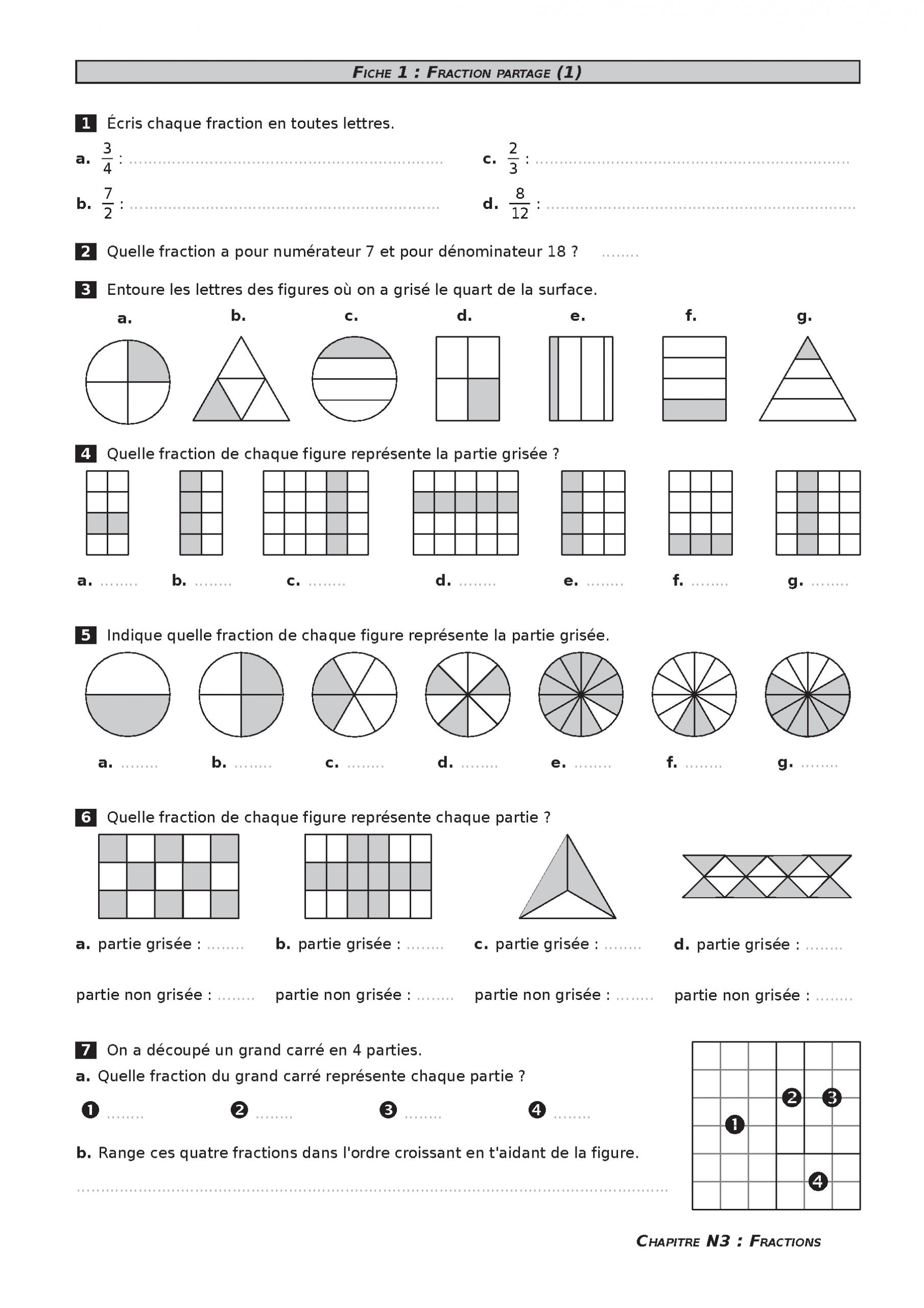 Fichier De Mathématiques Très Complet À Télécharger encequiconcerne Exercice Gratuit Cm2