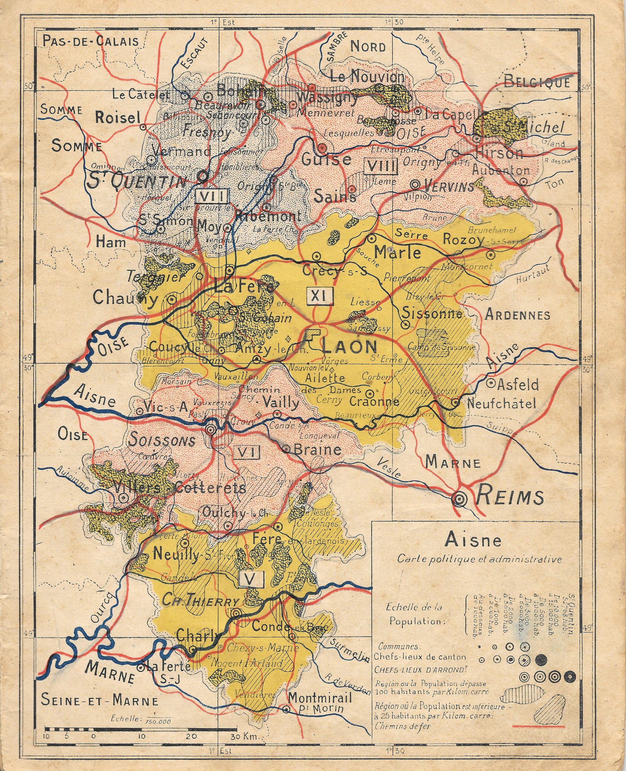 Fichier:carte Du Département De L'aisne — Wikipédia concernant Département 09 Carte