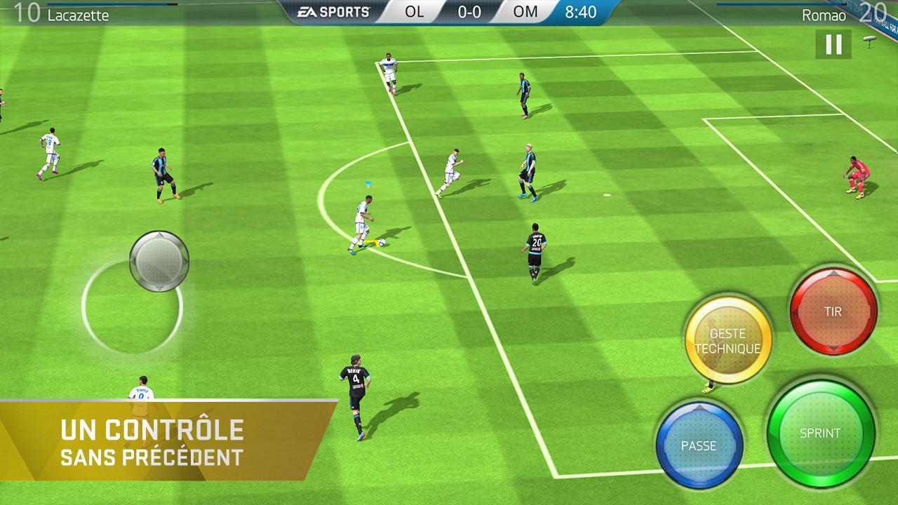 Fifa 16 Ultimate Team Siffle Le Coup D'envoi Sur Android encequiconcerne Jeux Foot Tablette