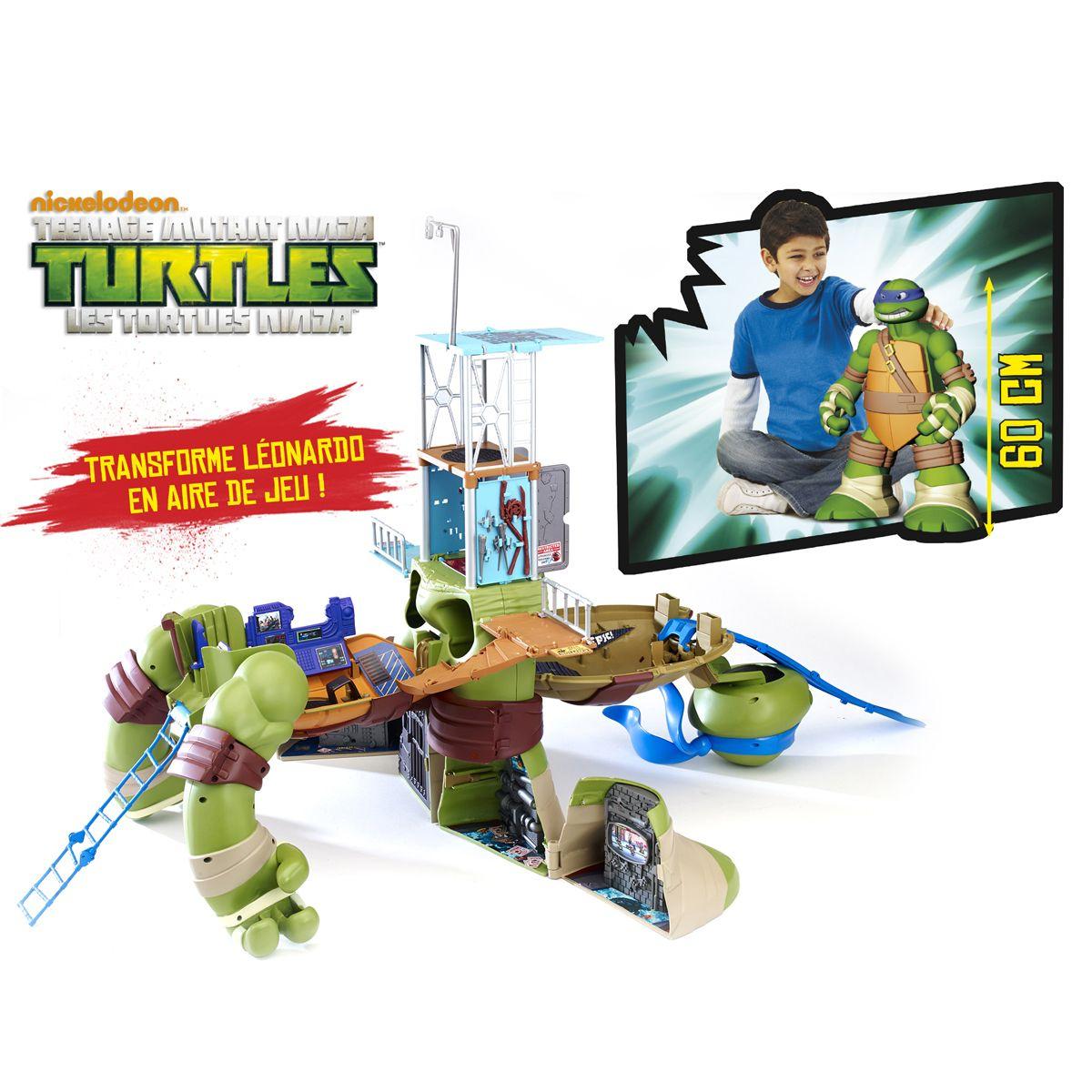Figurine Mutation Leo Mega - Aire De Jeu 60 Cm Tortues Ninja concernant Jeux De Tortue Gratuit