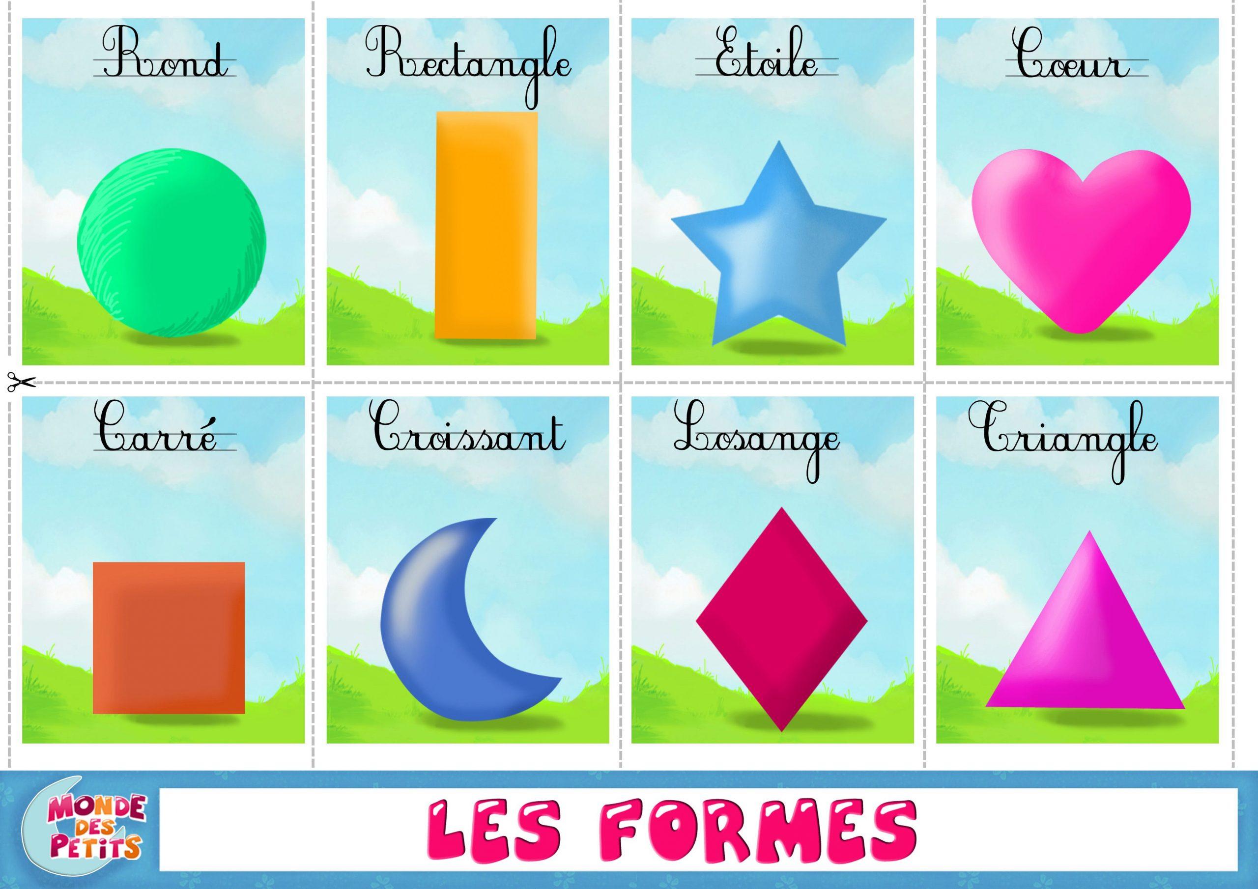 Figury Geometryczne   Activités Pour Apprendre Le Français avec Apprendre Les Couleur En Francais