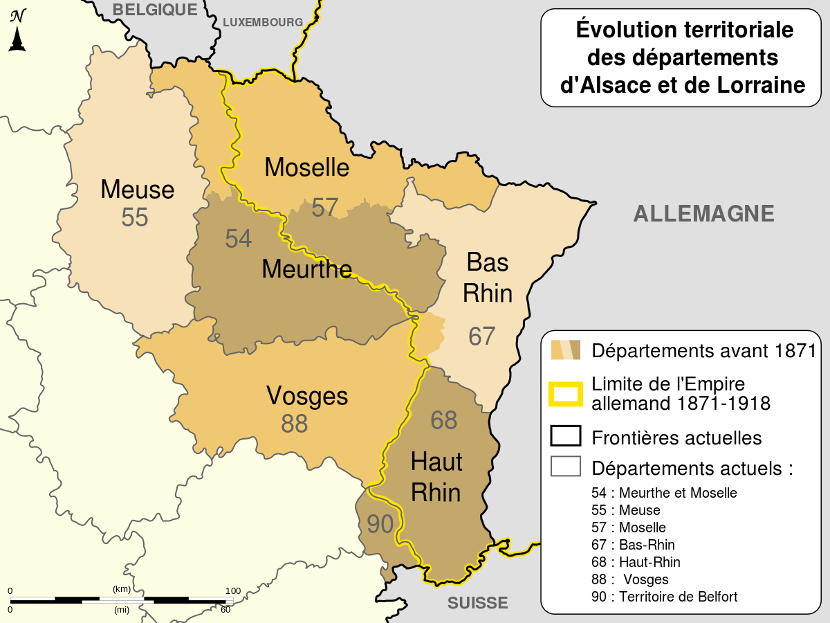 File:alsace Lorraine Departments Evolution Map-Fr.svg destiné Département 57 Carte