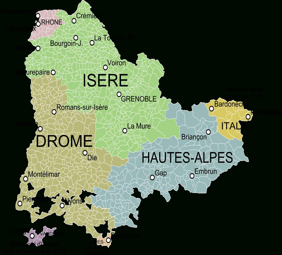File:carte Du Dauphiné.svg - Wikimedia Commons encequiconcerne Gap Sur La Carte De France
