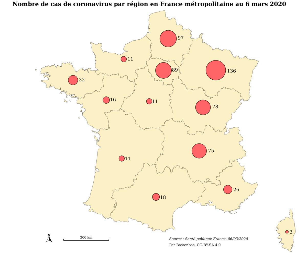 File:coronavirus France 06-03-2020 - Wikimedia Commons intérieur Combien Yat Il De Region En France