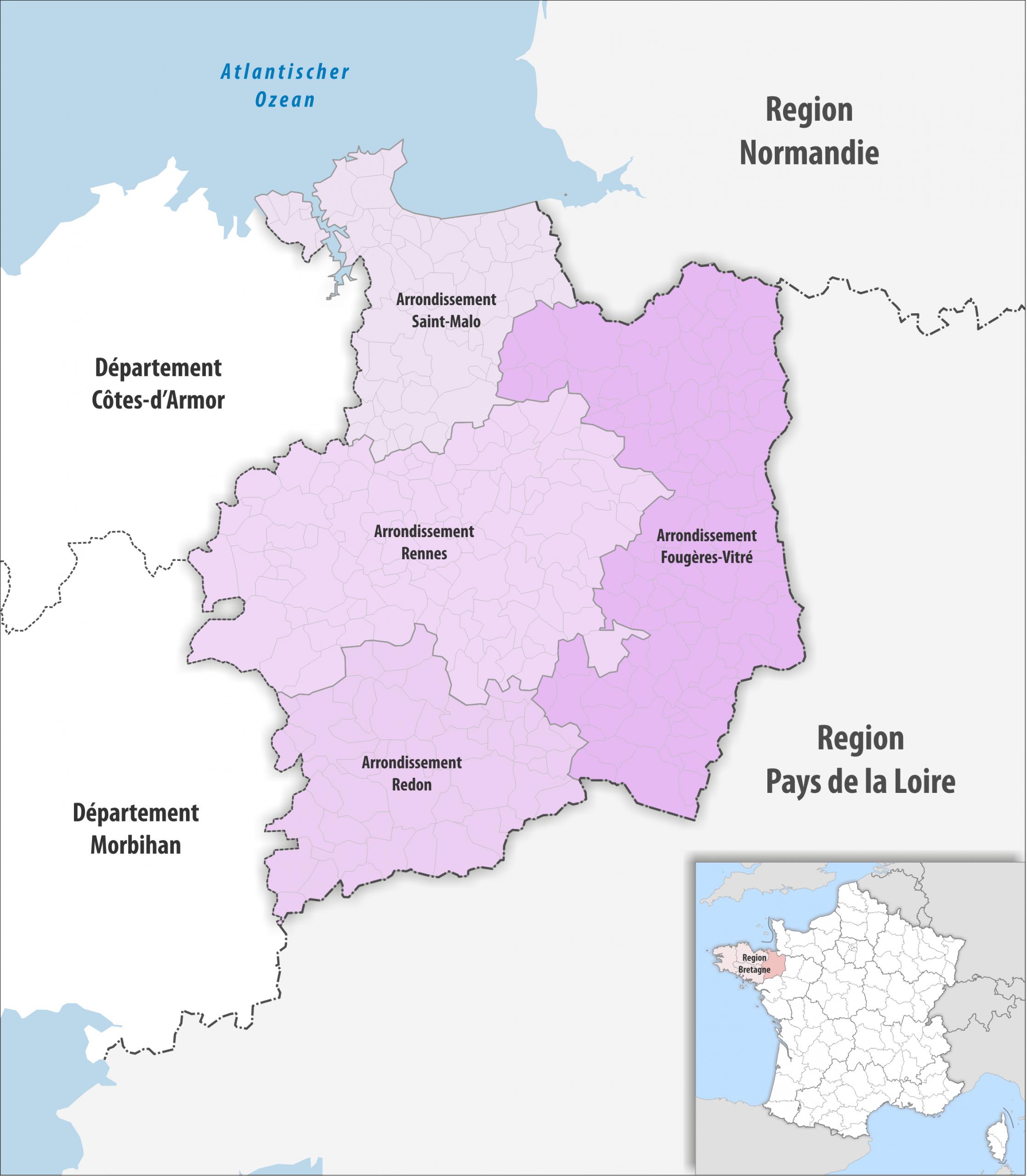 File:département Ille-Et-Vilaine Arrondissement 2019 dedans Departement 22 Region