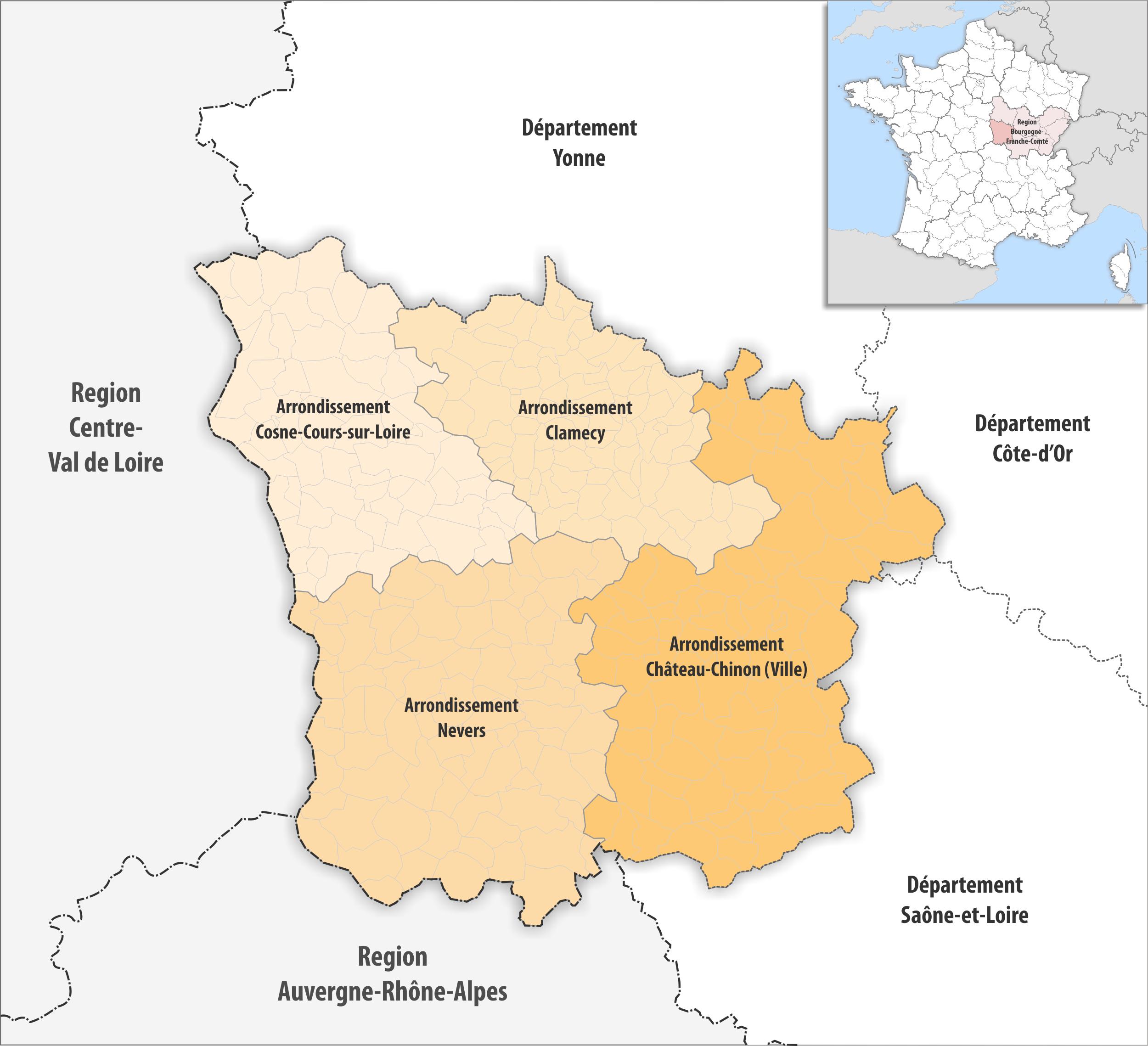 File:département Nièvre Arrondissement 2017 - Wikimedia serapportantà Departement 22 Region