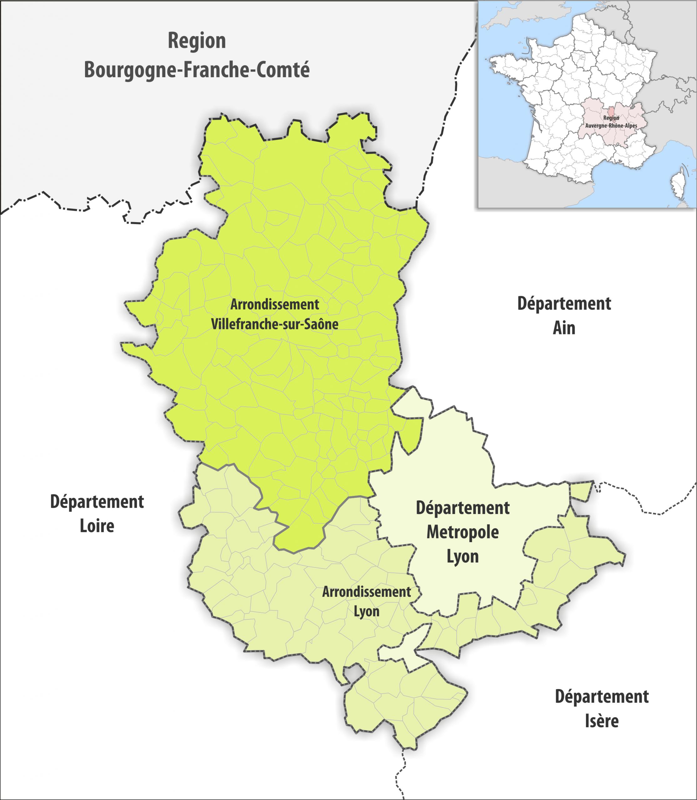 File:département Rhône Arrondissement 2019 - Wikimedia dedans Departement 22 Region
