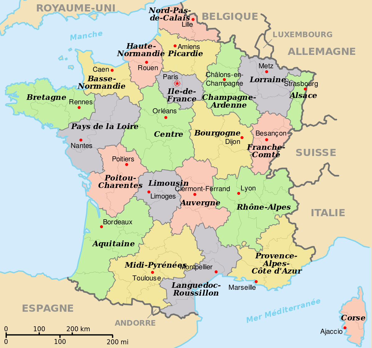 File:départements+Régions+Capitales(France).svg - Wikimedia encequiconcerne Carte De France Par Régions Et Départements
