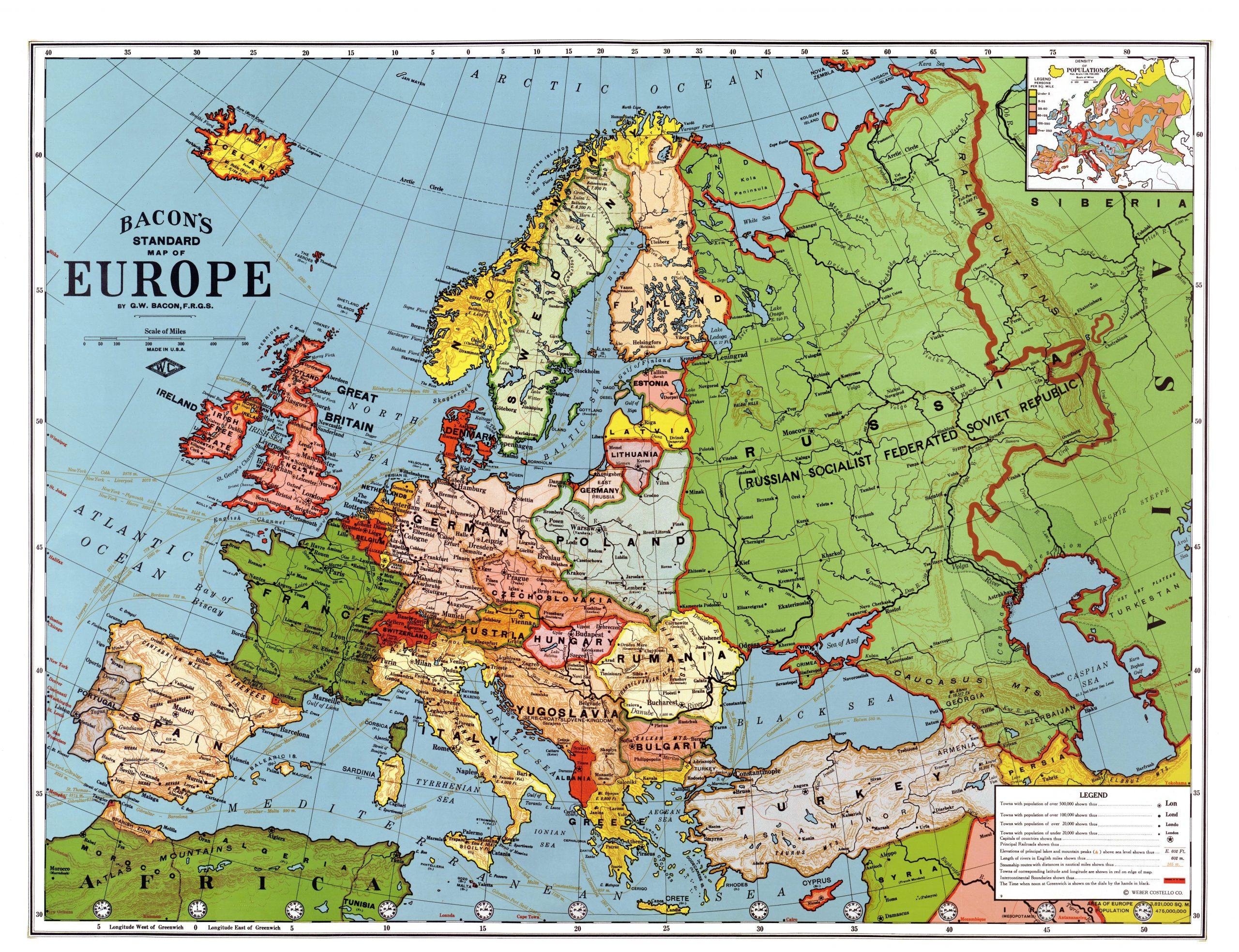 File:europe In 1923 - Wikimedia Commons destiné Carte De L Europe En Relief