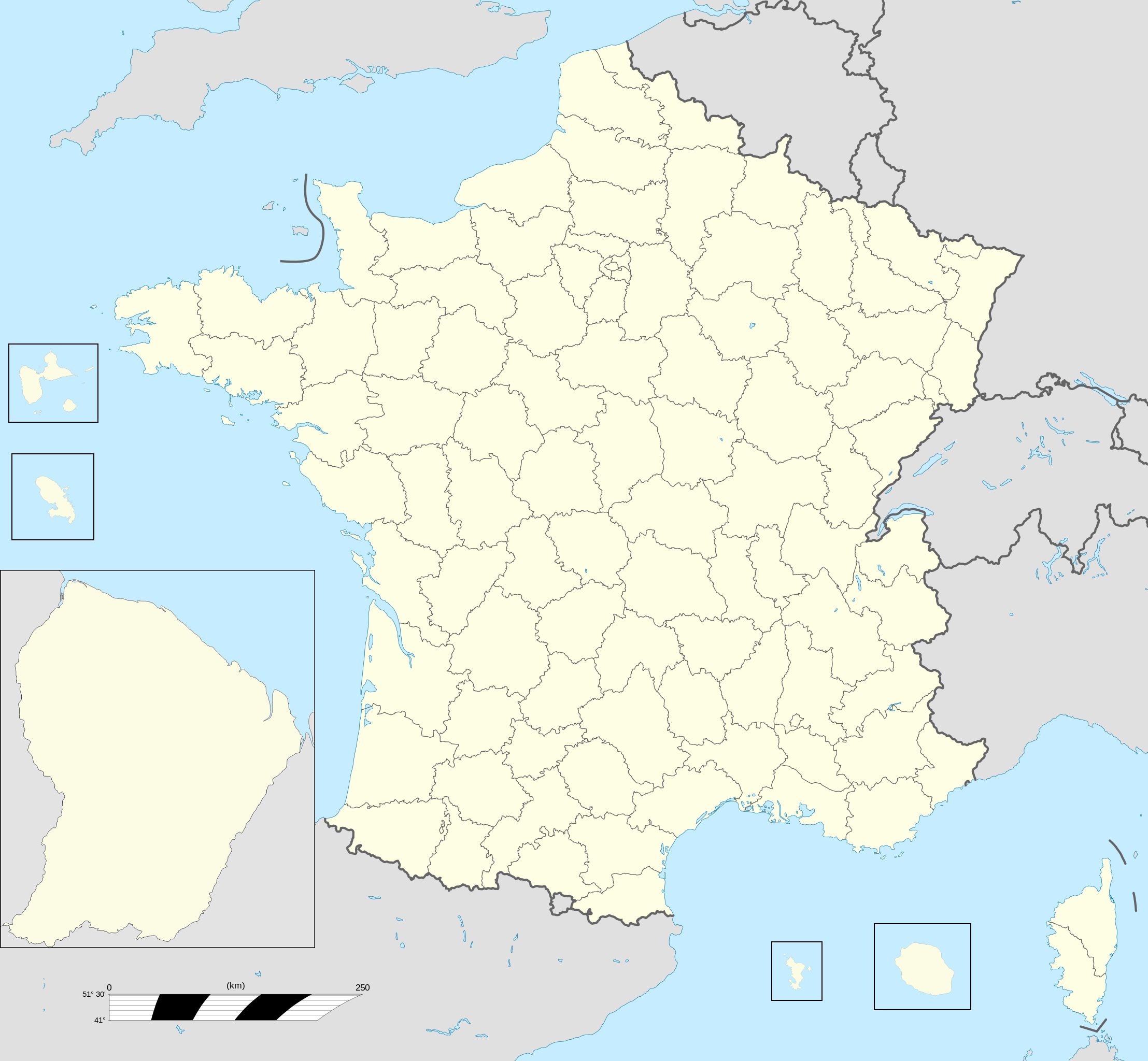 File:france Fond De Carte 101 Départements - Wikimedia serapportantà Département De La France Carte