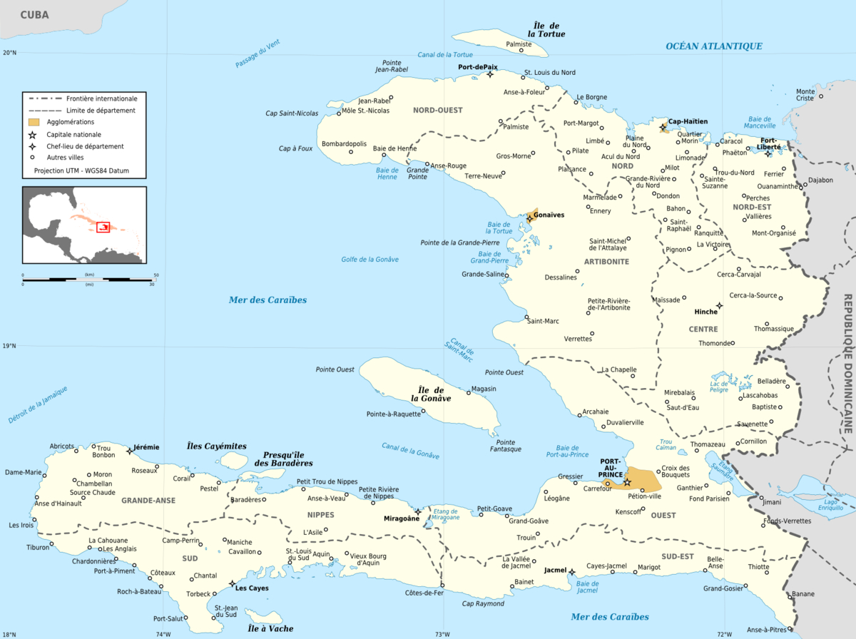 File:haiti Administrative Map-Fr - Wikimedia Commons serapportantà Departement Et Chef Lieu