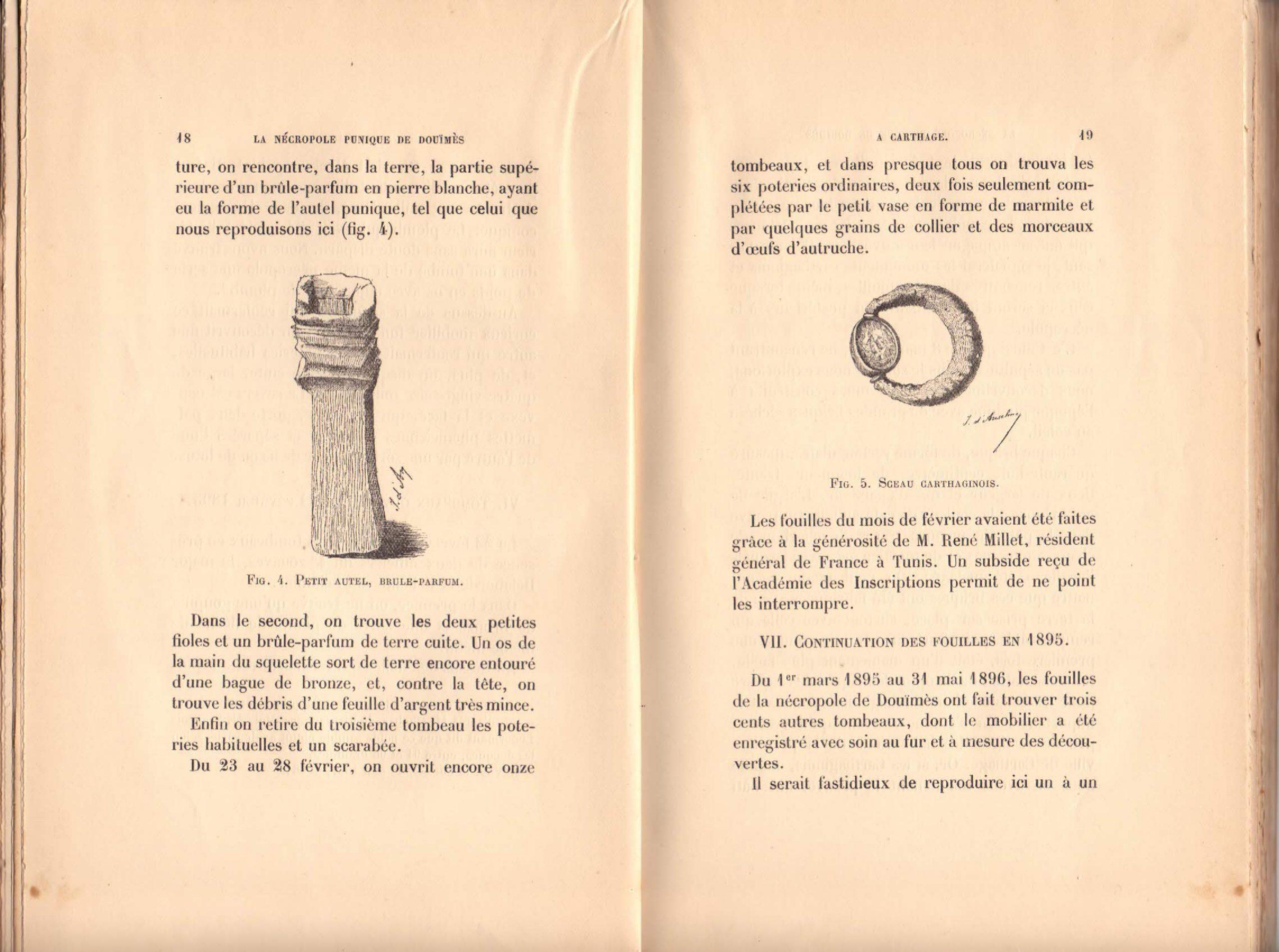 File:la Nécropole Punique De Douïmès (A Carthage) Fouilles avec Male De L Autruche