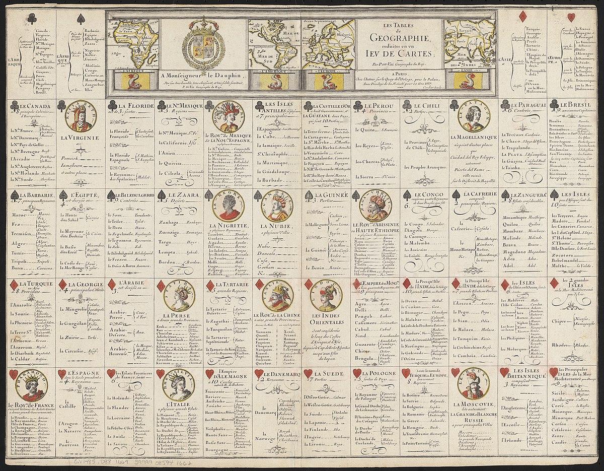File:les Tables De Geographie, Reduites En Un Jeu De Cartes pour Jeu Geographie France