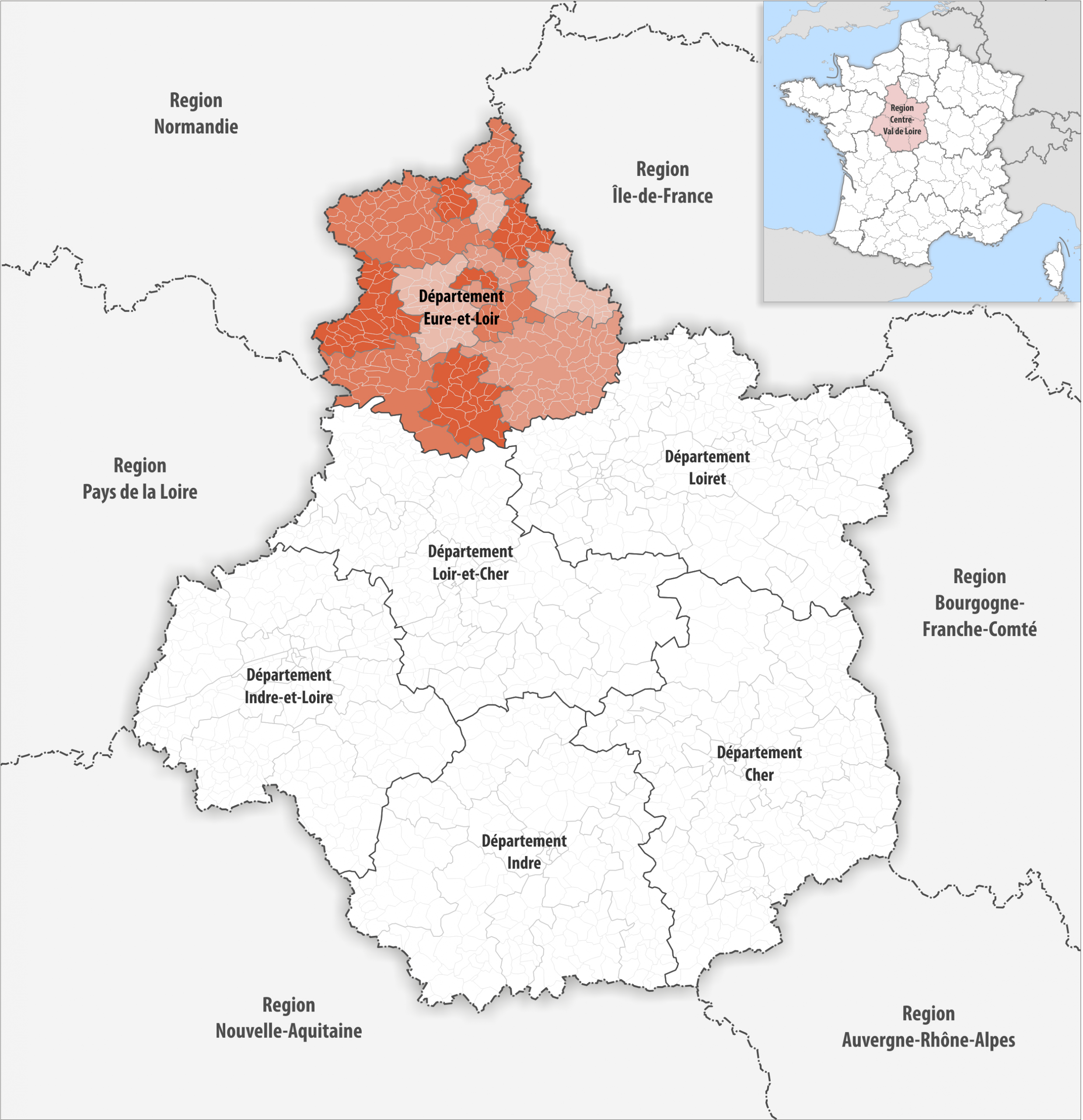 File:locator Map Of Departement Eure-Et-Loir 2018 concernant Departement 22 Region