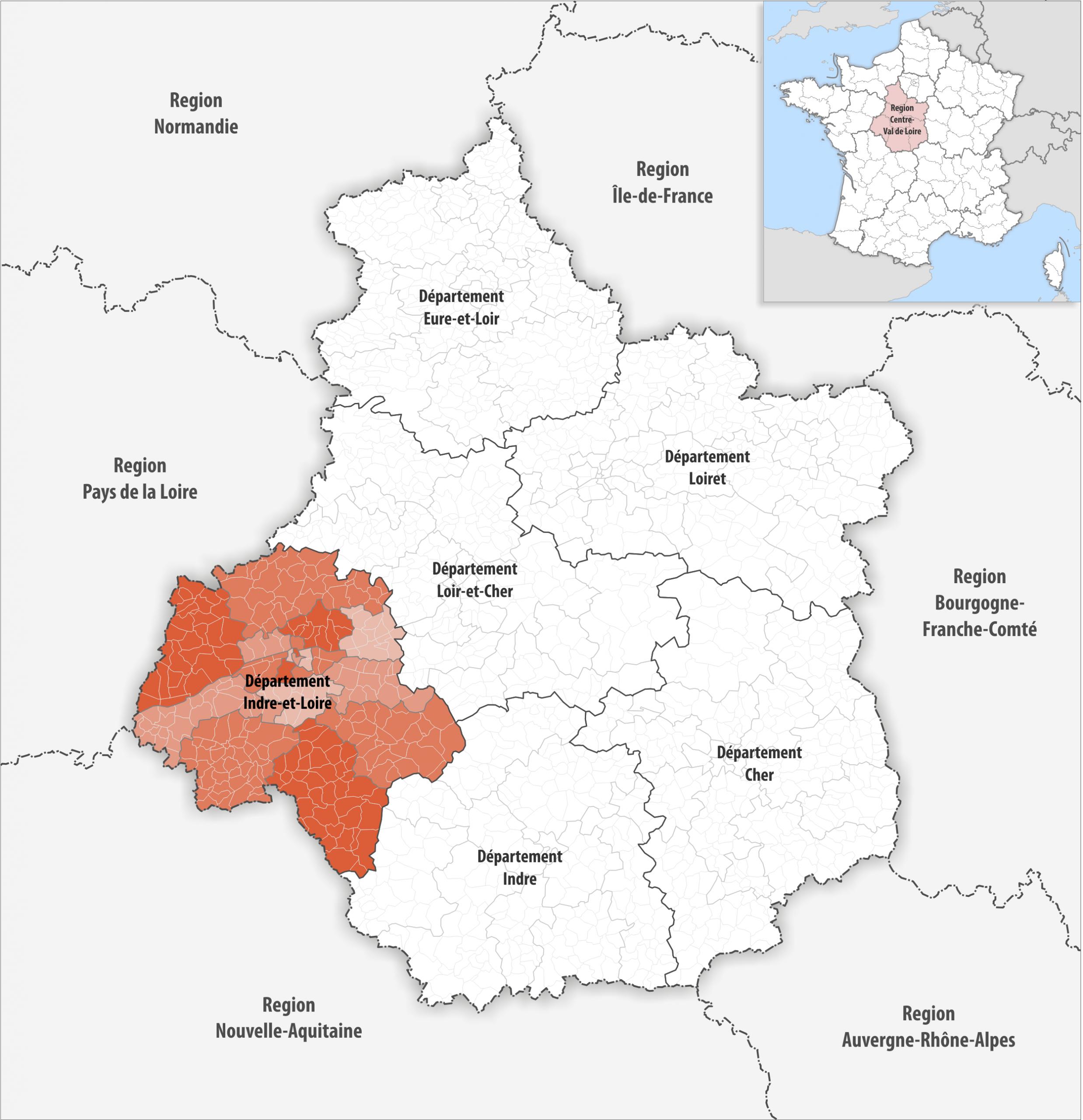File:locator Map Of Departement Indre-Et-Loire 2018 tout Departement 22 Region