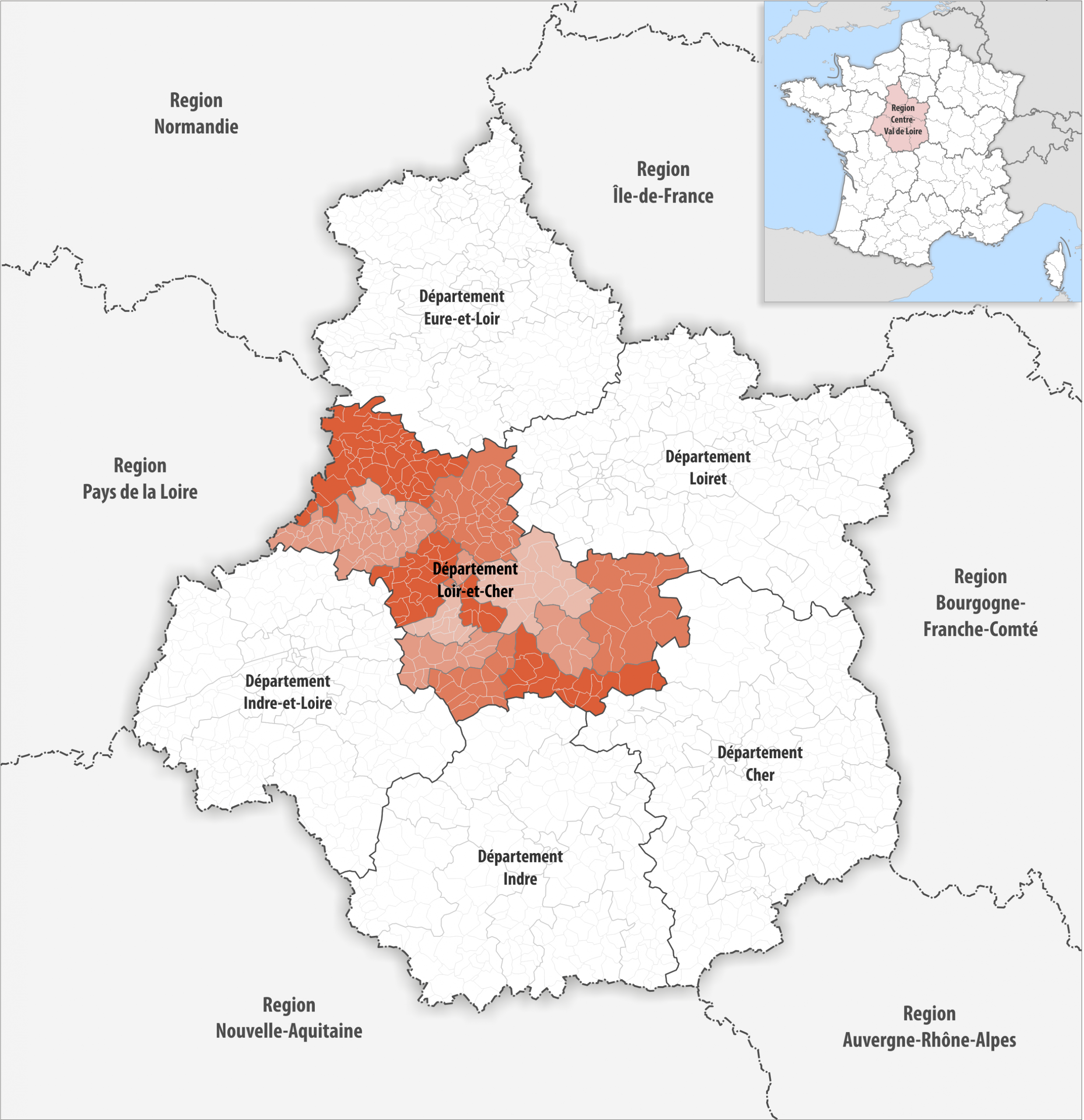 File:locator Map Of Departement Loir-Et-Cher 2018 concernant Departement 22 Region