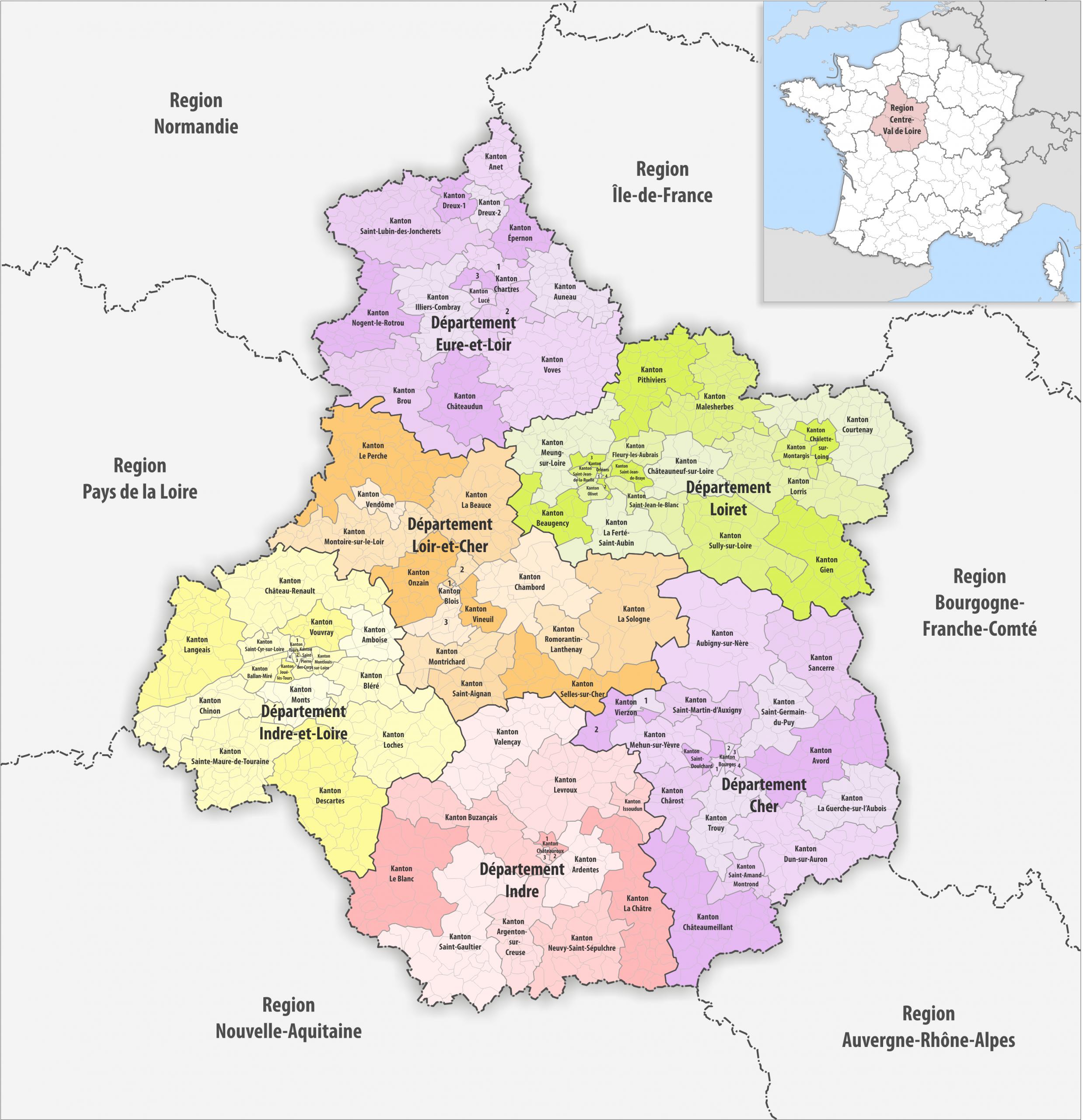 File:region Centre-Val De Loire Kantone 2018 - Wikimedia intérieur Departement 22 Region