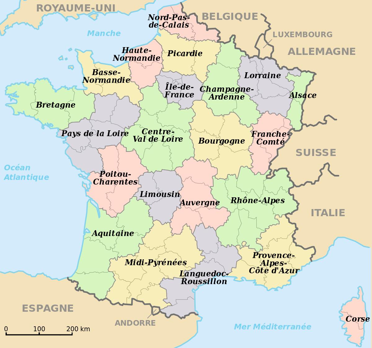 File:régions De France.svg - Wikimedia Commons dedans Carte Des 22 Régions