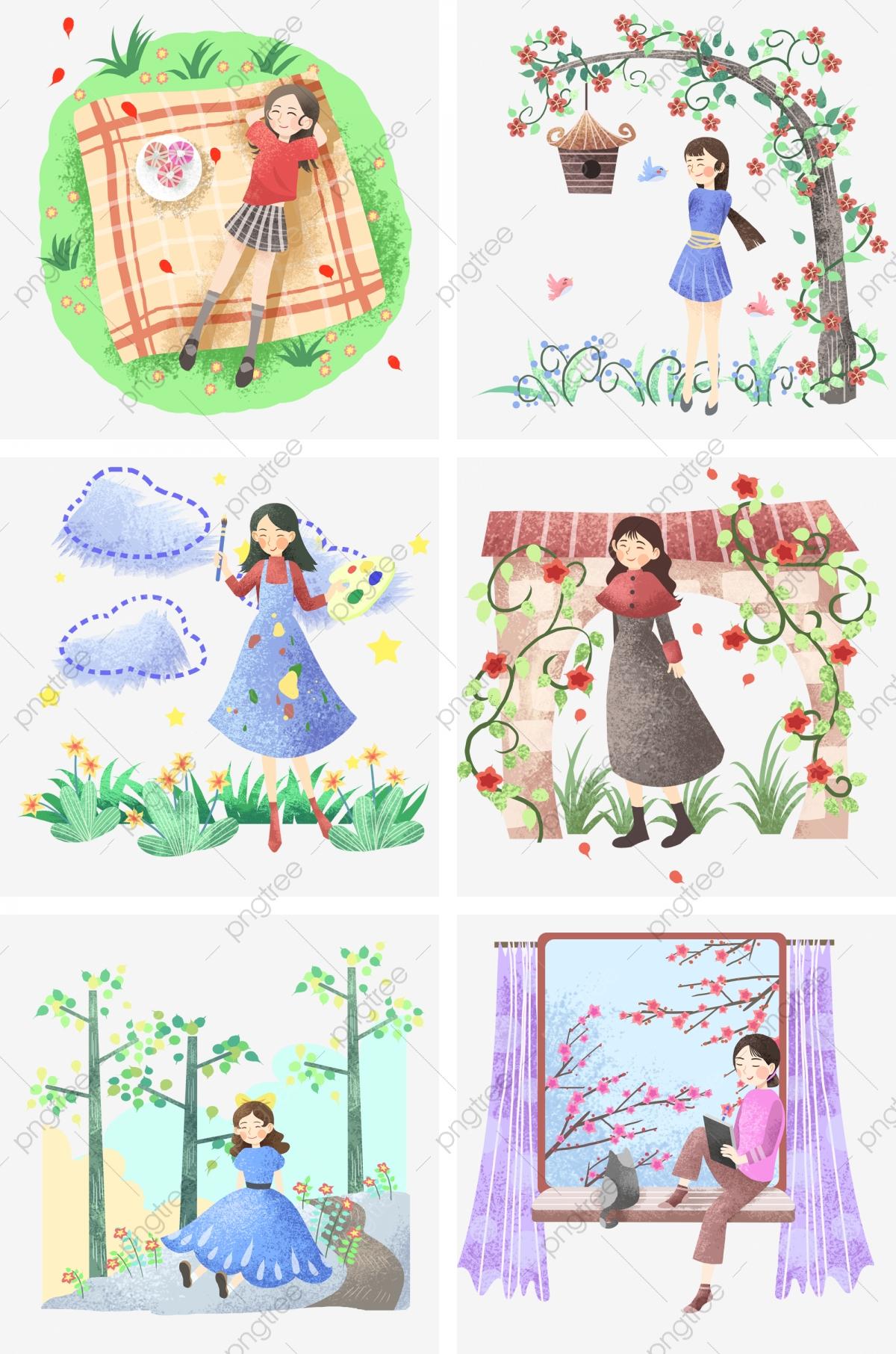 Fille De Peinture Illustration De Dessin Animé Illustration encequiconcerne Jeux De Peinture Pour Fille