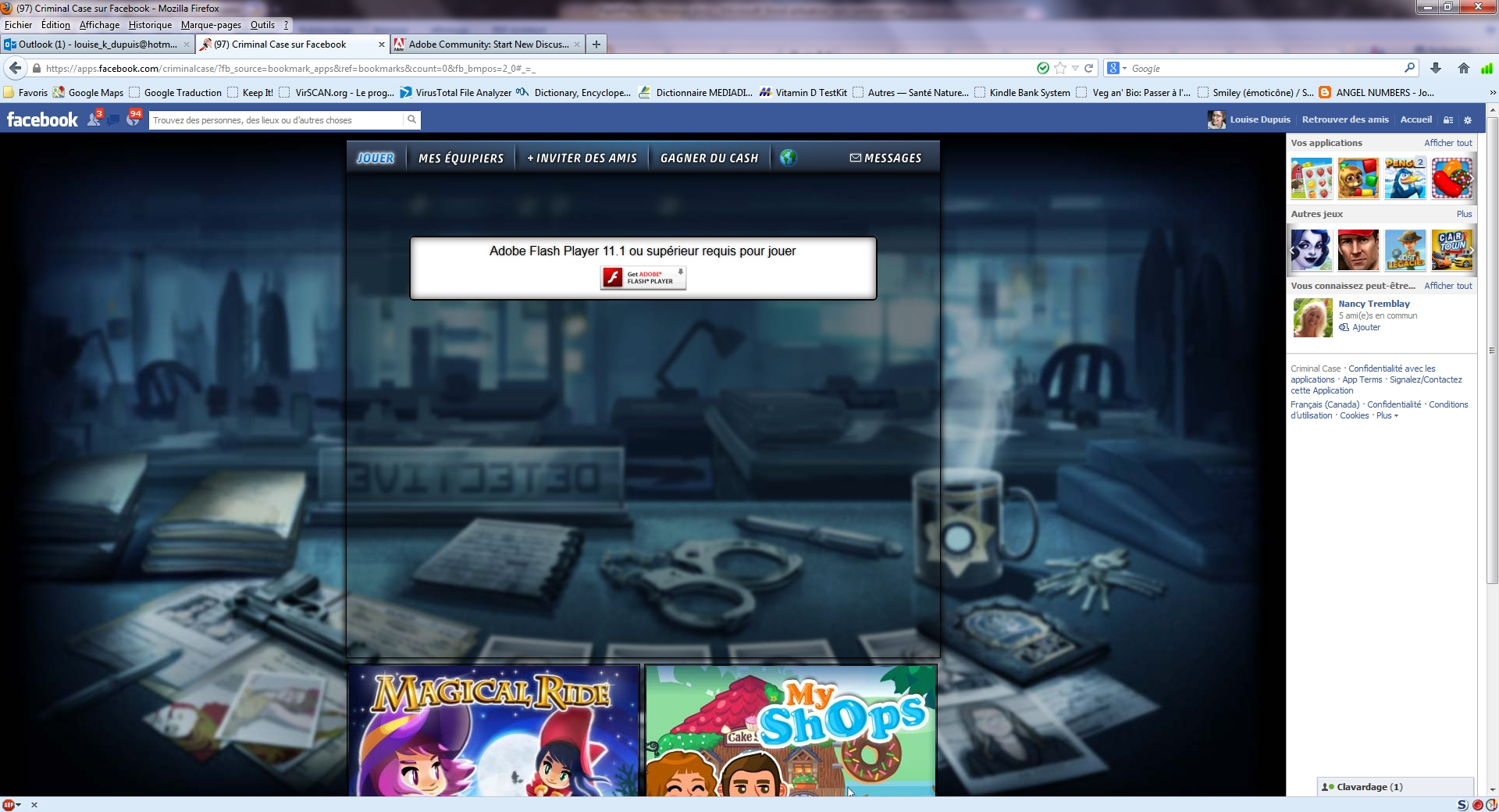 Flash Player 11.7.700.224 Not Playing On Firefox 2 pour Jeux Flash A 2